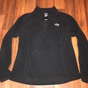Women's The North Face Black Fleece Pullover Sz Lg